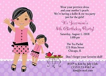 Amazon doll and me birthday tea party invitations health doll and me birthday tea party invitations filmwisefo