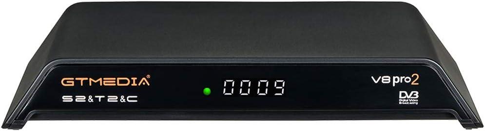 GT MEDIA V8 PRO2 Decodificador Satélite Receptor TDT de TV por Terrestre DVB-S/S2/S2X DVB-T/T2 DVB-Cable WiFi Ethernet 1080P Full HD H.265 HEVC