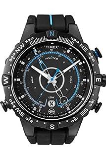 timex men s t2n720 quartz tide temp compass watch black dial timex men s intelligent quartz tide compass temp watch black dial analogue display and