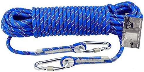 クライミングロープ、アウトドアクライミングロープレスキューエスケープロープ着用安全ロープ、直径10 mm,10m