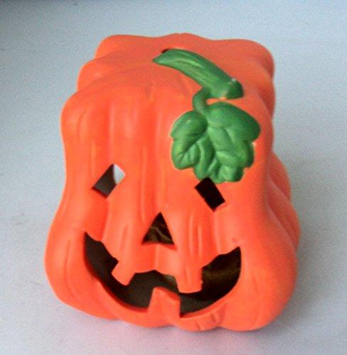 Halloween Ceramic Clay Tealight Holder Pumpkin 3.5