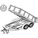10HD Trailer Plan - 5' x 10' Tandem Axle 7K Dump Trailer DIY How-to Blueprint