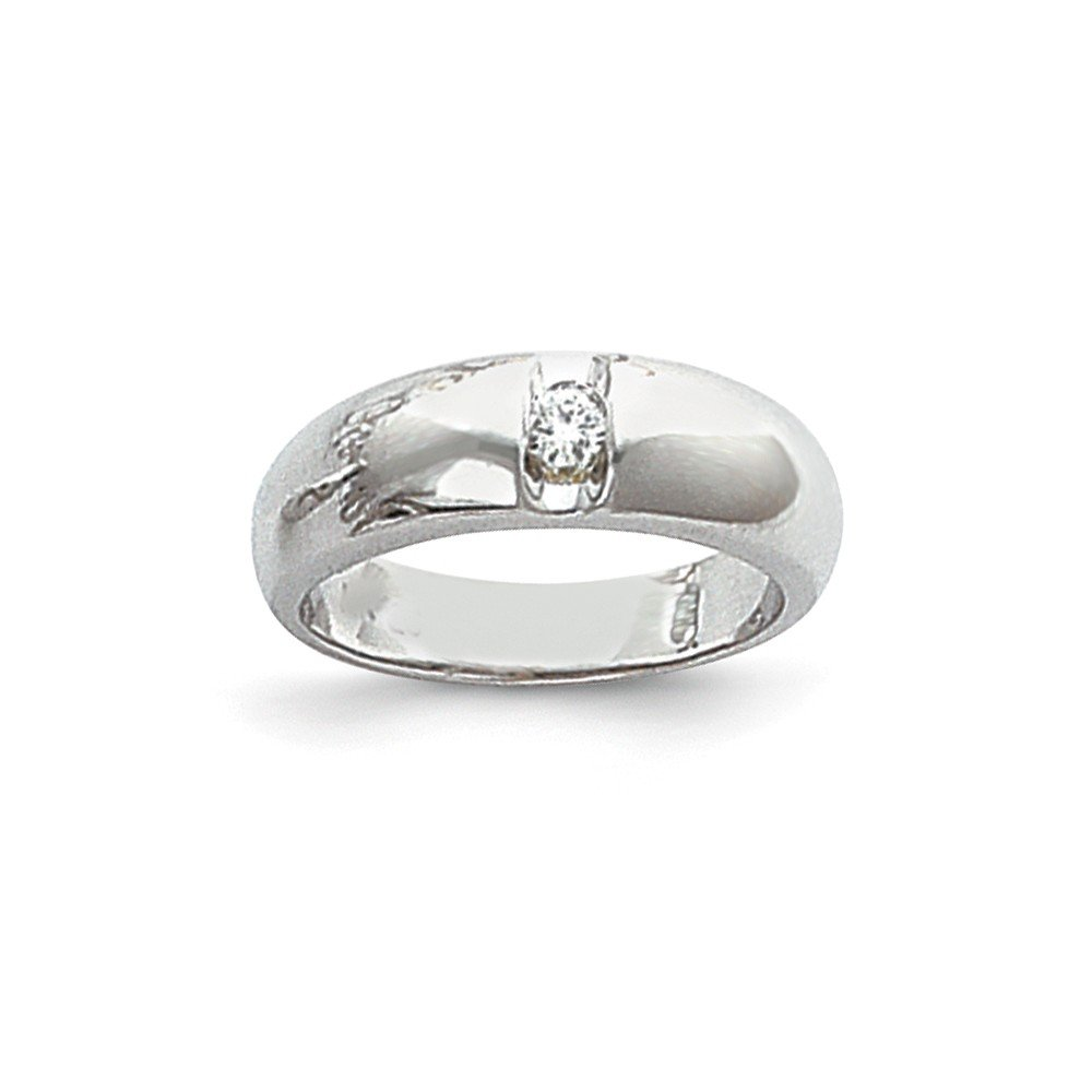 1/3 CT 14k White Gold AA Diamond Men's Band. 0.3 ctw. by JewelrySuperMart Collection