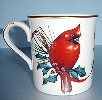 Amazon lenox winter greetings mug cardinal bird and seasonal lenox winter greetings mug cardinal bird and seasonal greenery new m4hsunfo