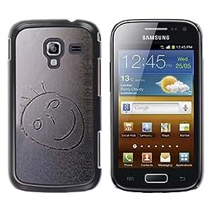 Be Good Phone Accessory // Dura Cáscara cubierta Protectora Caso Carcasa Funda de Protección para Samsung Galaxy Ace 2 I8160 Ace II X S7560M // Snow Smiley