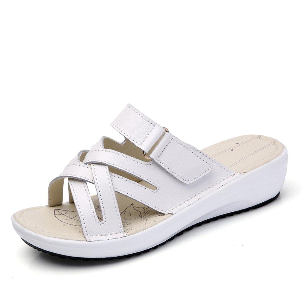 Femme Chaussures Mules Sandales À En Cuir Sabots Sandales À Bout B07C3T1JZB Ouvert Sandales À Plateforme Sandales À Talons Pantoufles White eb115f6 - digitalweb.space