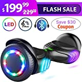 TOMOLOO Hoverboard with Speaker and Colorful LED Lights Self-Balancing Scooter UL2272 Certified 6.5'' Wheel for Adults and Child