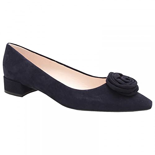 b3e83b019fb9 Peter Kaiser Low Heel Suede Rose Court Shoe 6 Navy Suede  Amazon.co.uk   Shoes   Bags
