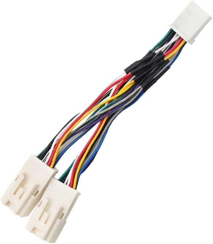 6/Broches pour Toyota Lexus Radio Panel SGerste Plug and Play Auto Voiture Y c/âble Audio st/ér/éo MP3/SD USB CD aux Module 6/