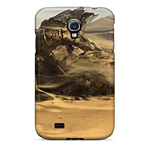 Fashionable Style Case Cover Skin For Galaxy S4- Fallen Statue