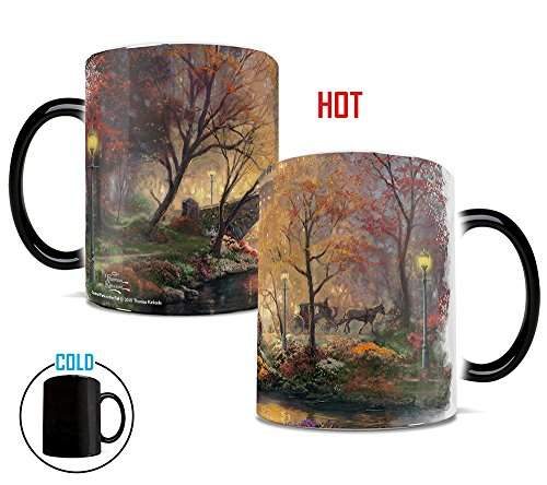 (Morphing Mugs Thomas Kinkade Central Park in the Fall Painting Heat Reveal Ceramic Coffee Mug - 11 Ounces)