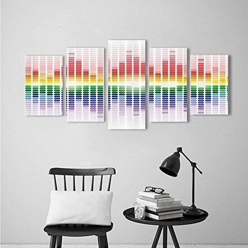 Nalahome Canvas Print Wall Art Painting Contemporary bo like Digita Equalizer Amplifier Recording Equipment Club Extralong Modern Giclee Stretched Artwork