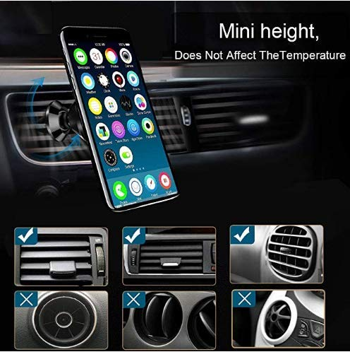 LG Huawei Magnetic Phone Car Mount Holder,Universal Air Vent Magnetic Car Mount Phone Holder with Fast Swift-Snap Adjustable Technology,Holder for iPhone Samsung Galaxy GPS Other Smartphones huidebao 4351559822