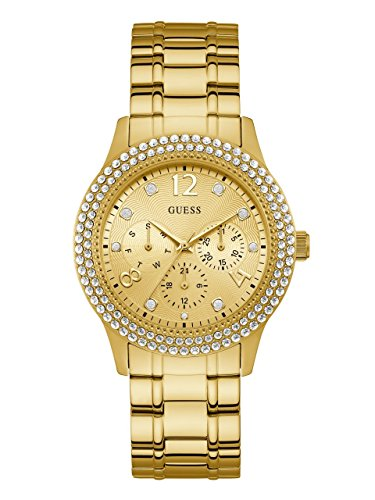 GUESS Women's Japanese-Quartz Watch with Stainless-Steel Strap, Color: Gold-Tone, 19.5: ((Model: U1097L2)) ()