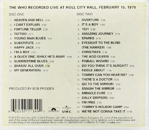 Live At Hull 1970 [2 CD] by Geffen (Image #1)