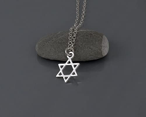 Sterling Silver Star of David Necklace - Jewish Magen David Israel Jewelry 16 inch + 2 inch Extender