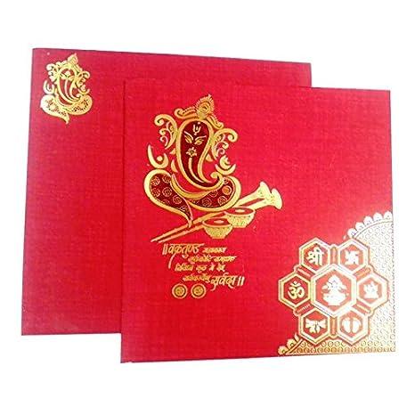 Me Wedding Card Shankh Design Invitation Hindu Marriage Rituals In