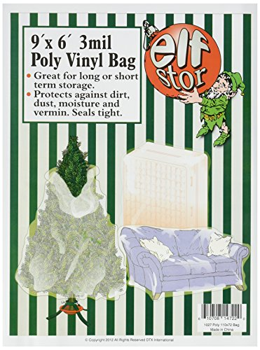 Elf Stor Premium Christmas Tree Poly Large Storage Bag 9' x 6' For 9' Trees