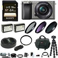 Sony Alpha a6000 Mirrorless Camera w/ 16-50mm Lens Essential Bundle - Graphite