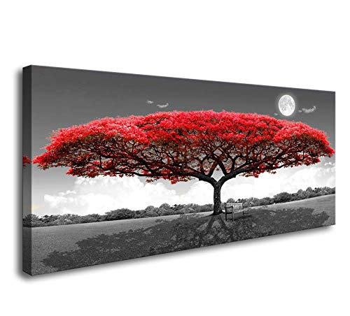 Wall Art red Trees for Living Room Decor Forestl Canvas Print Paintings for Wall and Home Décor Office Gifts Art Ready to Hang (For Paintings Home Cheap)