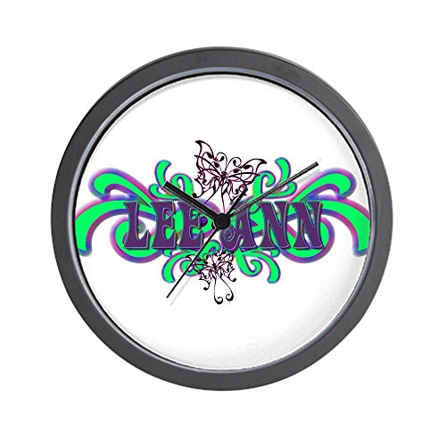- CafePress - Lee Ann's Butterfly Name Wall Clock - Unique Decorative 10