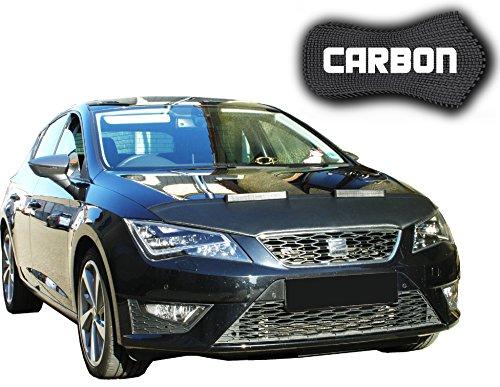 Black Bull Seat Leon 3 Typ 5F CARBON Protector del Capot Front End Cover Car Bra Bonnet Hood Tuning Coche Máscara NUEVO