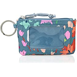 Vera Bradley Lighten Up Zip ID Case, Polyester, Superbloom Sketch