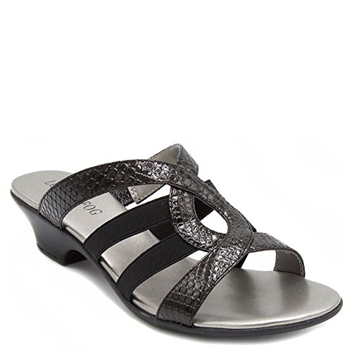 London Elvis Sandals Fog Dress Womens Black Heeled Axwr6AR