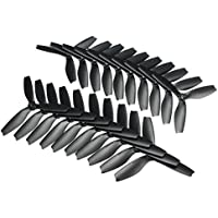 BangBang 10 Pairs Racerstar R5040X3 5040 3 Blade Propeller 5.0mm Mounting Hole For 2204 2206 Motor FPV Frame (10 Pairs: Color Black)