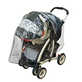 J is for Jeep Travel System Weather Shield, Baby Rain Cover, Universal Size to fit most Travel Systems, Waterproof, Windproof, Ventilation, , Protection, Shade, Umbrella, Pram, Vinyl, Clear, Plastic