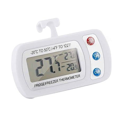 Elenxs Impermeable Frigorífico Termómetro Digital Colgante habitación Congelador Medidor de la Temperatura del LCD -20