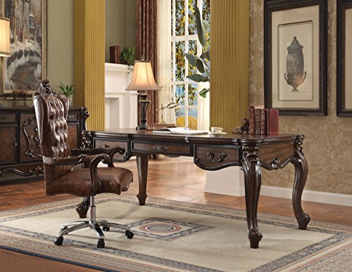 ACME Versailles Cherry Oak Executive Desk -