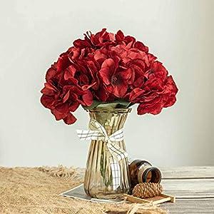 Efavormart 5 Pack | 25 Heads Silk Hydrangea Artificial Flower Bushes Wedding Arrangements 24
