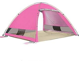 KCJMM Tente de Plage, Tente portative Automatique de Protection Solaire de Protection Contre Les Rayons UV, Tente extérieure 3-4 Personnes, Plage/Camping/Parc/pêche