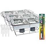 25 Pc Disposable Aluminum Chafing Dish Buffet Party