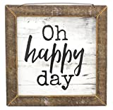 Jan Michaels Rustic Wood Framed Art (Oh Happy Day) Review