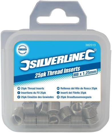 Inserti per filettatura M5 x 0,8 mm Silverline Helicoil 234567 25 pezzi