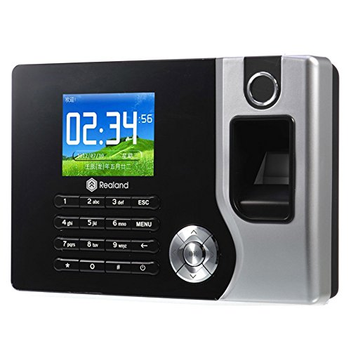 HFeng TCP/IP/USB Biometric Fingerprint Time Clock Recorder Attendance Employee Electronic Punch Reader Machine Realand A-C071 2.8inch