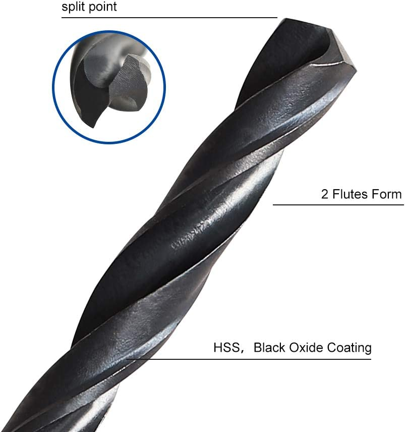 118/° Tool Material 27//32 R56C0 Shank Size Helical Flute Series Precision Twist Cobalt Silver /& Deming Drills Cobalt Steel Flute Shape Drill Point Angle 1//2 Size