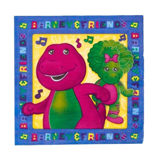 Barney Dinosaur Halloween Costume (Designware Barney Lunch Napkins - 16 ct)