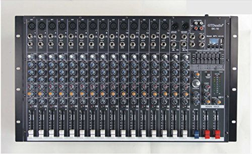 GTD-Audio 16 Channel 4000Watt Professional Powered Mixer Amplifier (1000 Watt RMS)