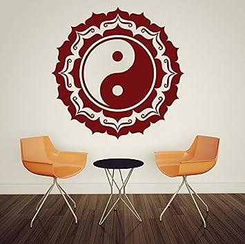 Abnehmbare Wandtattoos Mandala Buddha Om Vinyl Wandbild Schlafzimmer