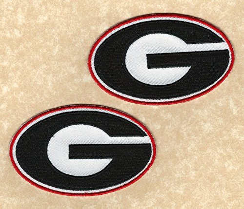 University of Georgia Bulldogs UGA Team Logo Iron-on Jersey Patches by Mastodon
