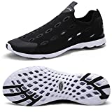 Zhuanglin Men's Mesh Slip On Water Shoes Casual Walking Shoes Size 7 D(M) US Black