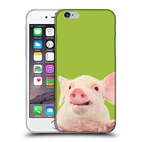 "GoGoMobile Coque de Protection TPU Silicone Case pour // Q05730603 Cochon mignon verde Android // Apple iPhone 6 PLUS 5.5"""