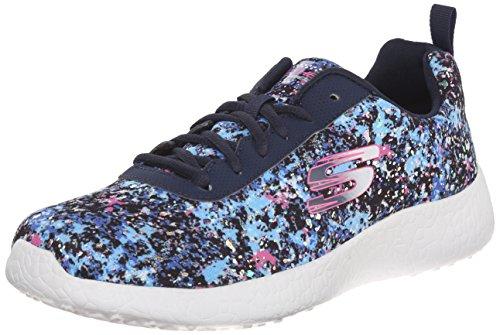 Skechers Deporte de la explosión de la zapatilla de deporte de la manera iluminaciones Navy/Multi