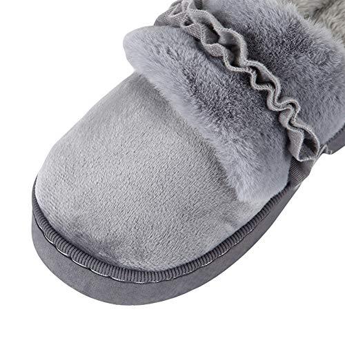 Hiver Femmes Icegrey Antidérapantes Pantoufle en Coton Maison Gris Confort q77E1wn