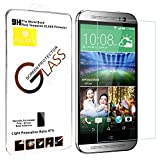 Premium Ballistic Tempered Glass Screen Protector for HTC ONE M8 2.5d Round Edge Alucky Screen Protector 0.3mm Thin Anti-scratch/shatterproof/water & Oil Resistant
