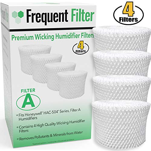 Frequent Filter - Compatible Honeywell Germ Free Cool Mist Wicking Humidifier, Filter A. Fits HCM 350, HCM350w, HCM350, Quietcare Tower & More. Replacement HAC 504, HAC504, 504AW - (Pack of -