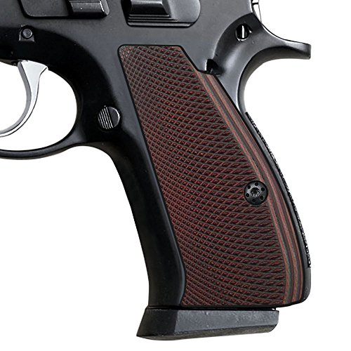 Cool Hand G10 Grips for CZ 75/85 Compact, Free Screws Included, Red/Black, SPC-PN-6 (Best Cz 75 Grips)